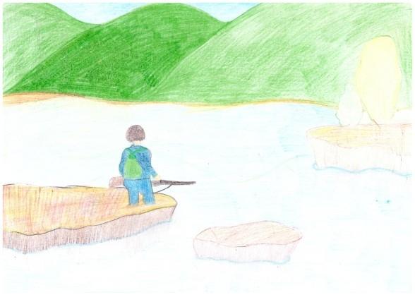 Шиханова Алина «Утро на озере»